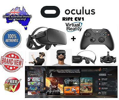 Oculus Rift CV1 Virtual Reality Headset + Xbox One Wireless Controller Brand New