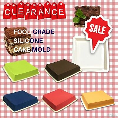 Pudding Mold Baking Mould Cake Chocolate Candy Fondant Silicone Square Bakeware