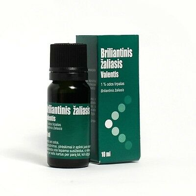 Brilliant Green Antiseptic Antibacterial 1% cutaneous solution (zelenka), 10ml