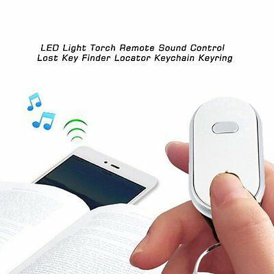 LED Light Torch Remote Sound Control Lost Key Finder Locator Keychain Keyring FY