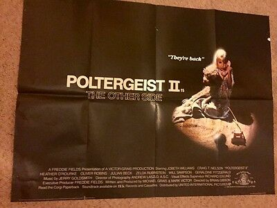 "Poltergeist 2 Cult Horror UK quad cinema poster 30"" x 40"" Julian Beck"