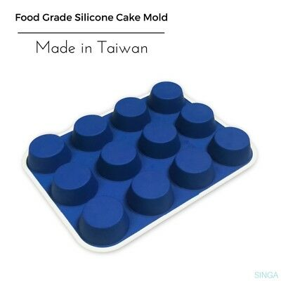 Baking Cupcake Mould Cake Muffin Chocolate Jelly Mold DIY Silicone Tray 12Cups