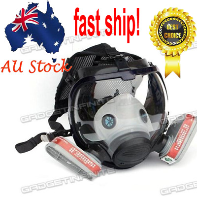 7 in 1 Facepiece Respirator Painting Spraying For 3M 6800 Full Face Gas Mask AU!