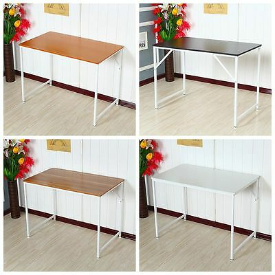 BN Modern Wooden Study Table Computer PC Desk Home Office Workstation Metal Legs