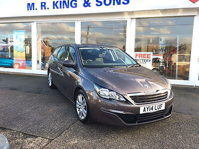 Peugeot 308 SW Active 1.6e-HDi Manual Estate Grey 2014