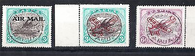 "PAPUA LAKOTAI'S X 3 TO 6d OVERPRINTED ""AIR MAIL"" USED (D67)"