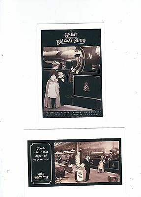 English Railway Poster 2 Postcards National Rail Museum The Great Railway Show