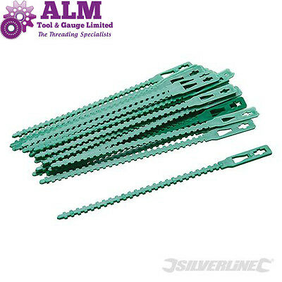 Silverline 30pk  Adjustable Plant Ties 135mm Long Ideal for Garden/ Greenhouse