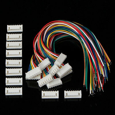 10 Sets 6S1P 7 Pin Battery Balance Charger Cable Wire Connector JST XH Plugs