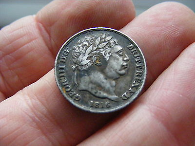 George III Silver Coin 1816 Sixpence Small