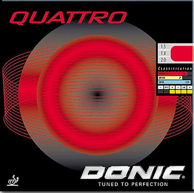 Donic Quattro Table Tennis Rubber (Red)