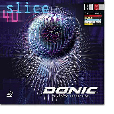 Donic Slice 40 Table Tennis Rubber (Red)