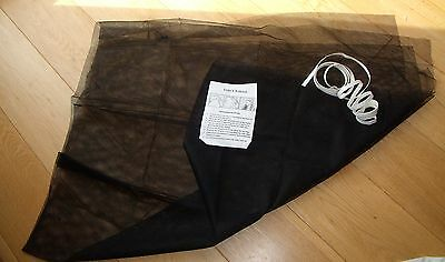 Insect Screen For Window, Black Mesh With Tape And Instructions - Size 130 X 160