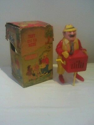 Vintage plastic toy: tony and his monkey plastic toy with original box: 1940s