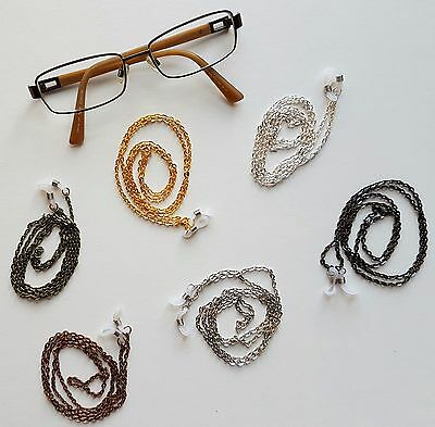 Handmade Simple Eye Glasses Neck Strap Chain Choice of 6 Colours