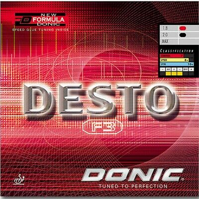 Donic Desto Table Tennis Rubber (Red)