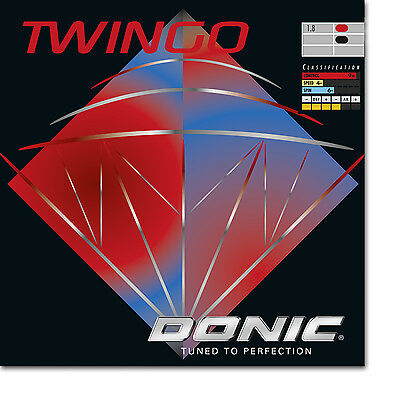 Donic Twingo Table Tennis Rubber (Red)
