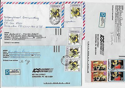 JAMAICA 5 covers butterfly 1990's with 2 registered