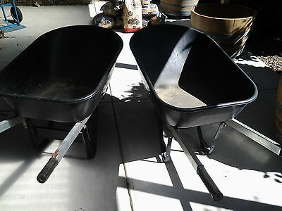 Two Plastic Tray Barrows in good used condition