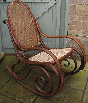 Antique Bentwood Rocking Chair Early 1900's Thonet ?
