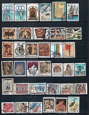 Greece -  Mixed Lot of 64 Stamps mainly Good Used on 2 Scans