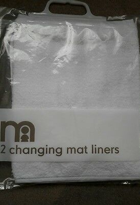 mothercare two baby changing mat liners NEW in packaging