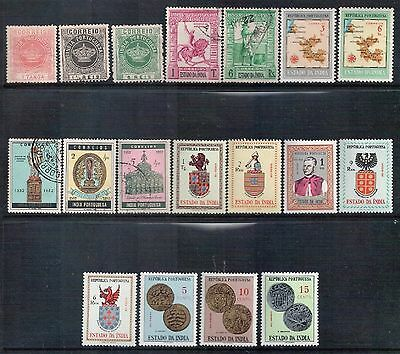 Portuguese India - Mixed Lot of 18 Stamps Good Used to MLH