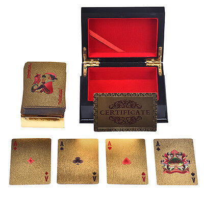 USD Gold Plat Playing Cards Full Per Deck With Box Great gift Spielkarten DE