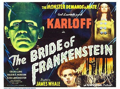 """The Bride of Frankenstein 16"""" x 12"""" Reproduction Movie Poster Photograph 2"""