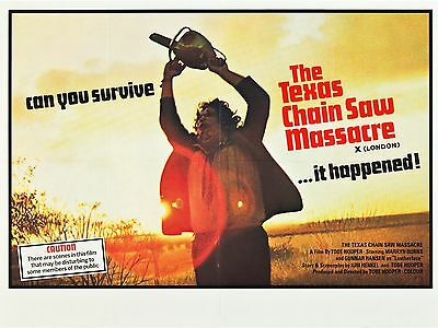 """The Texas Chainsaw Massacre 16"""" x 12"""" Reproduction Movie Poster Photograph"""