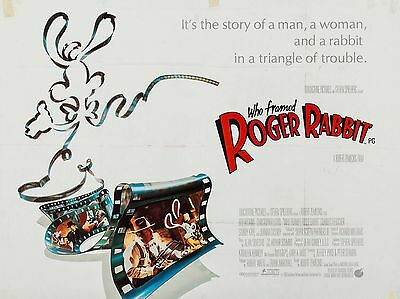 """Who framed Roger Rabbit 16"""" x 12"""" Reproduction Movie Poster Photograph"""