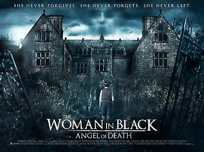 """Woman in Black Angel of Death 16"""" x 12"""" Reproduction Movie Poster Photograph"""
