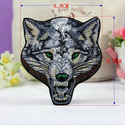 1Pc Embroidered Sew Iron on Patch Badge Wolf Motif Bag Cloth Applique Fabric