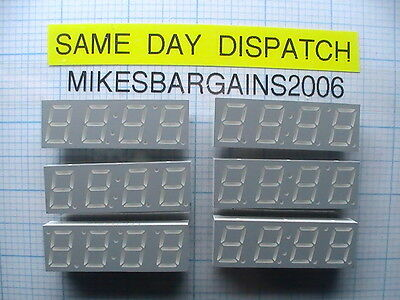 6 Pieces X  Ldf4165-20, 4 Digit, Seven Segment Display, Common Anode, Uk Seller