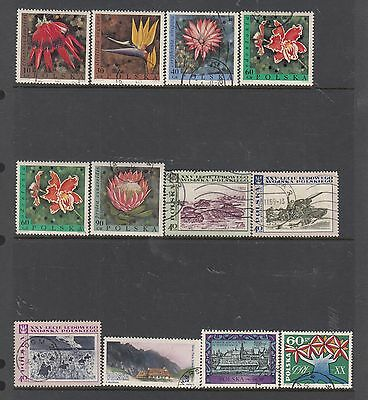 POLAND on Hagner Sheet Removed for Postage ...Mostly CTO Flowers Etc..