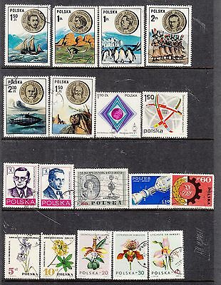 POLAND on Hagner Sheet Removed for Postage ...Mostly CTO interesting lot