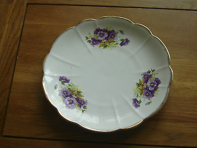 Real Shabby Chic Melba China 'violets' Cake/sandwich Plate