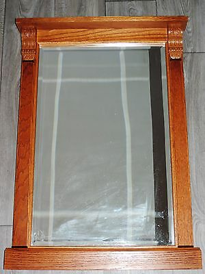 A Wonderful Arts And Crafts Wooden Mirror Wall Hanging Nouveau Deco