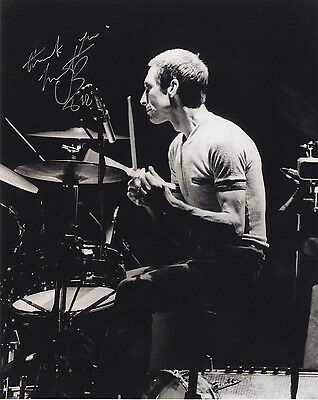 Charlie Watts - The Rolling Stones Drummer - Signed B & W Photograph.