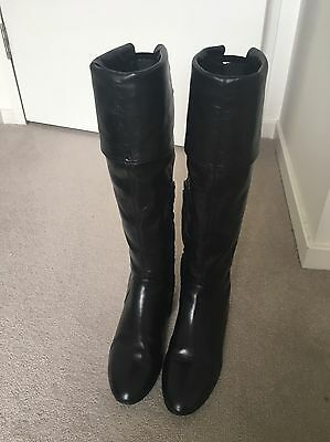 Tony Bianco Black Over The Knee Boots