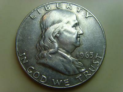 1963 D Usa Half Dollar Franklin United States Of America Coin