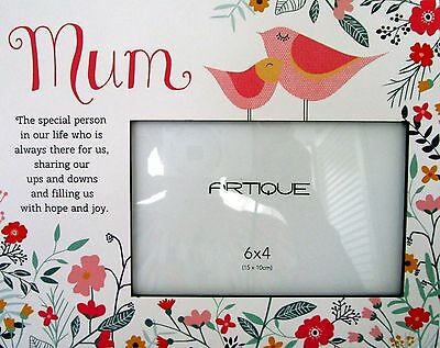 """Floral Photo Frame """"mum The Special Person..."""" Beautiful Mother's Day Gift Bnib"""