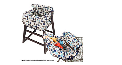 Crocnfrog 2-in-1 Cotton Shopping Cart Cover High Chair Cover for Baby