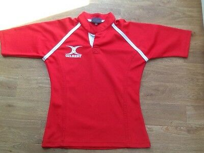 Gilbert Red Rugby Training Top XS