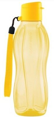 TUPPERWARE 500ml SMALL H2O ECO WATER DRINK BOTTLE WITH FLIPTOP CAP YELLOW NEW