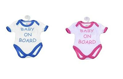 Baby On Board Car Sign Boy or Girl Cotton Cloth With Suction Cup