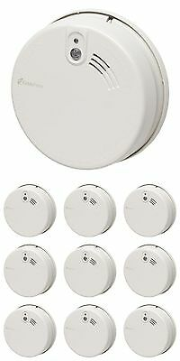 10 x KIDDE FIREX KF20R Mains Optical Smoke Fire Alarm Lithium Battery RRP £30+