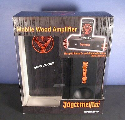 Jagermeister Mobile Wood Amplifier - 2016 Promo Jager Cell Phone Amp