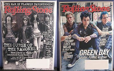 Ramones 2016 / Green Day 2016 Rolling Stone Magazine In Poly-Sleeve Protector RS