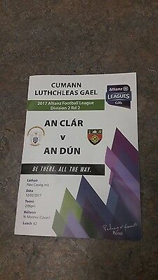 clare v down national league 2016 programme